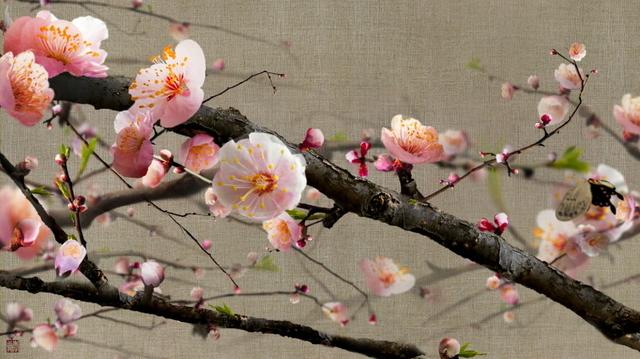 Lee Lee Nam, 'Blooming ume flowers on Assa cloth', 2013, Hakgojae Gallery