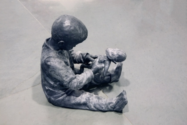 , 'Child playing with a rag monkey,' 2013, Galerie von Braunbehrens