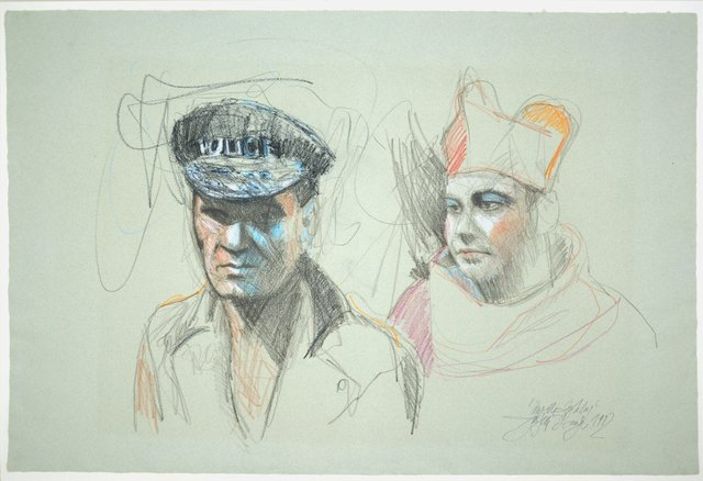 , 'Polizist mit dem Bordell Pabst,' 1982, Galerie Kornfeld
