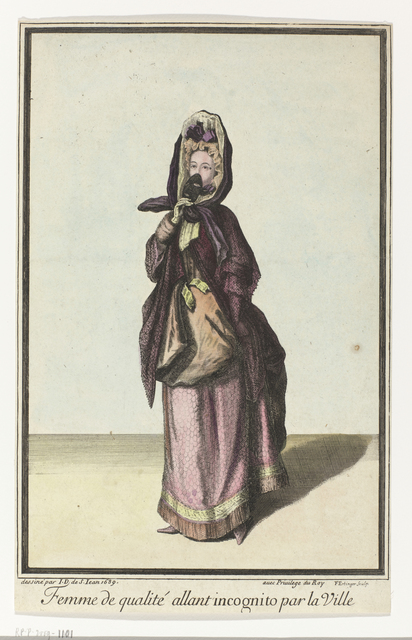 , 'Femme de qualité allant incognito par la Ville (Quality Woman Going Incognito in the City),' , Rijksmuseum