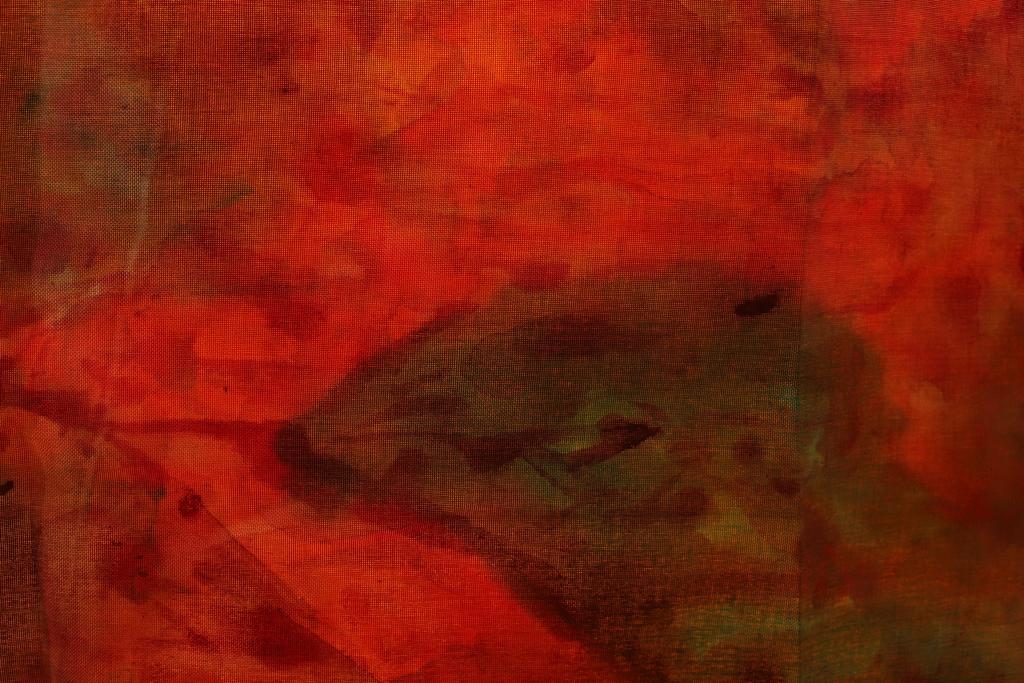 "detail of heavy cloth landscape painting, ""Mare Tenebrarum"""