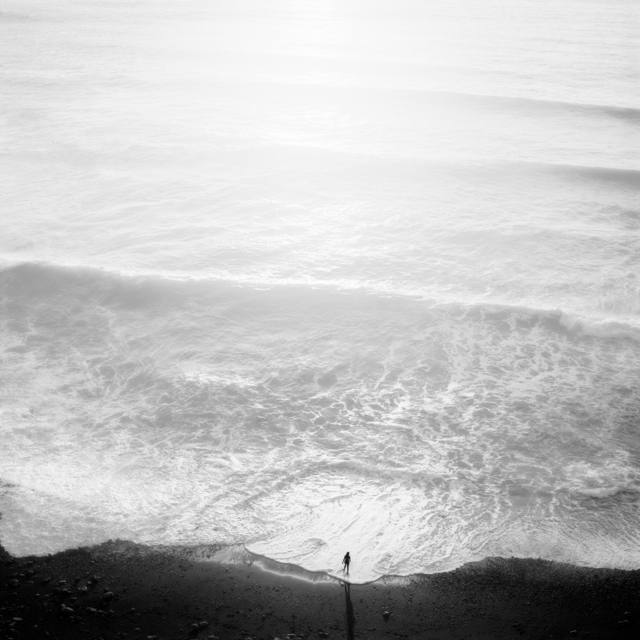 , 'Figure and Tide, Big Sur,' 2001, Peter Fetterman Gallery