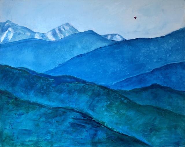 , 'Layers of Blue,' 2018, Galatea Fine Art
