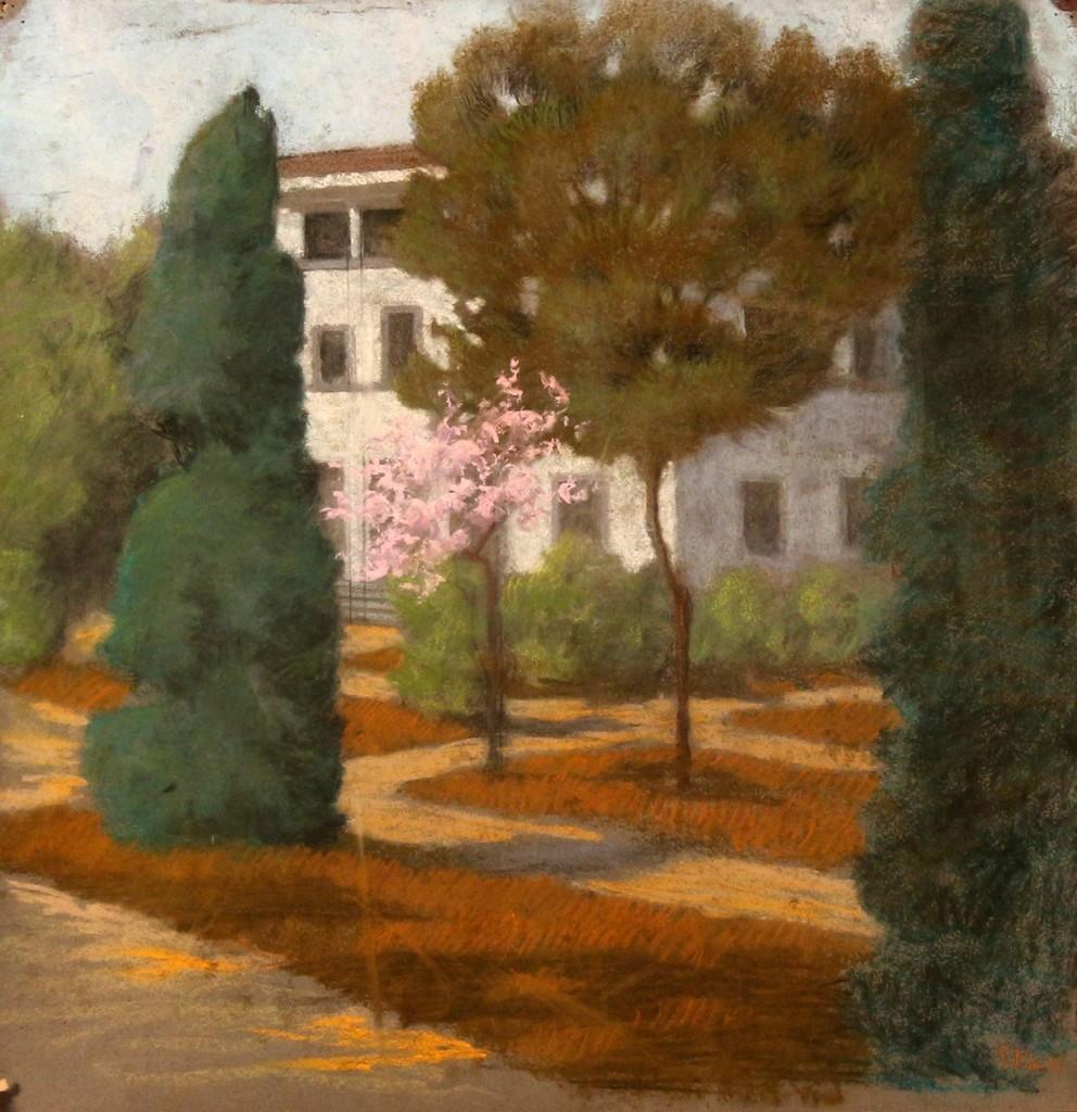 Giuseppe Pelizza da Volpedo 'Landscape', mixed media, 48x49, signed