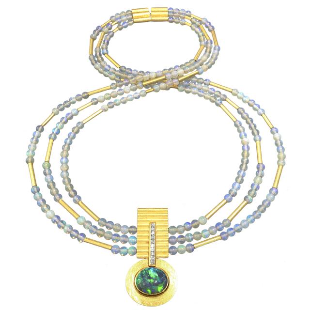 , 'Black Opal Diamond Necklace,' 2015, Szor Collections
