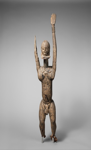 Unknown Dogon, 'Male Figure with Raised Arms', 14th–17th century, The Metropolitan Museum of Art
