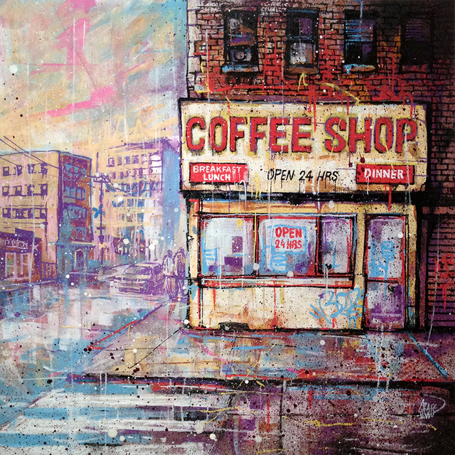 , 'Coffee shop,' 2017, Carre D'Artistes