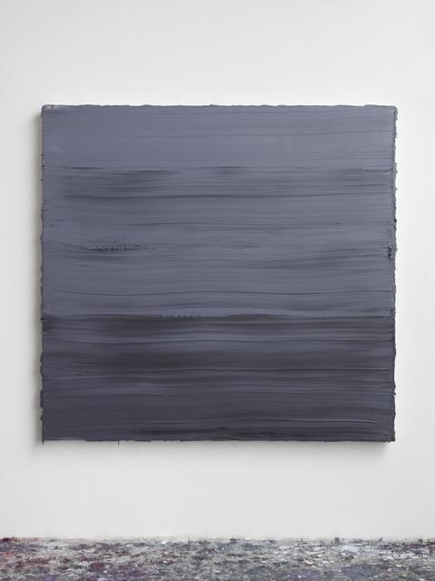 , 'Untitled (Graphite Grey/ Titanium White/ Prussian Blue) II,' 2018, Galerie Forsblom