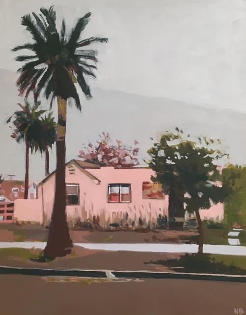 Nancy Benton, 'Palm Trees and Pink House', 2019, JCO's Art Haus