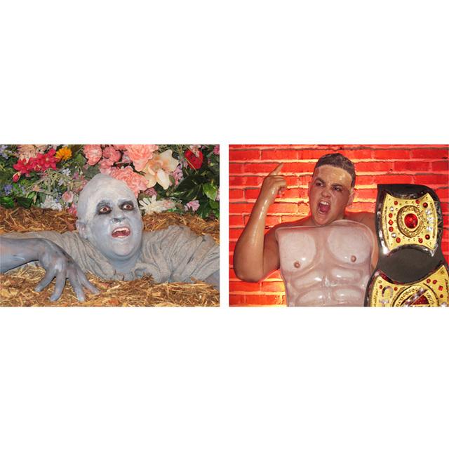 , 'Self-portrait as This Lawn Zombie/Self-portrait as John Cena in This Lawn Zombie Totally Looks Like John Cena by Unknown ,' 2012, Adam Parker Smith