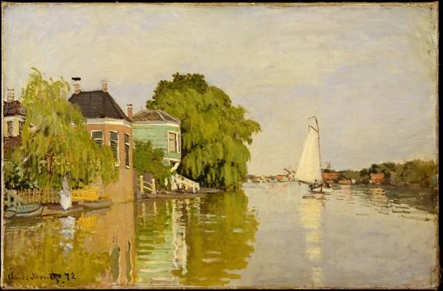 Claude Monet, 'Houses on the Achterzaan', 1871, The Metropolitan Museum of Art