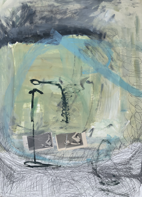 Dorothy Fitzgerald, 'Ritual Based', 2018, Painting, Mixed media on paper, Resource Art