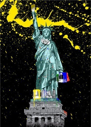 Mr. Brainwash, 'Liberty ', 2010, Imitate Modern