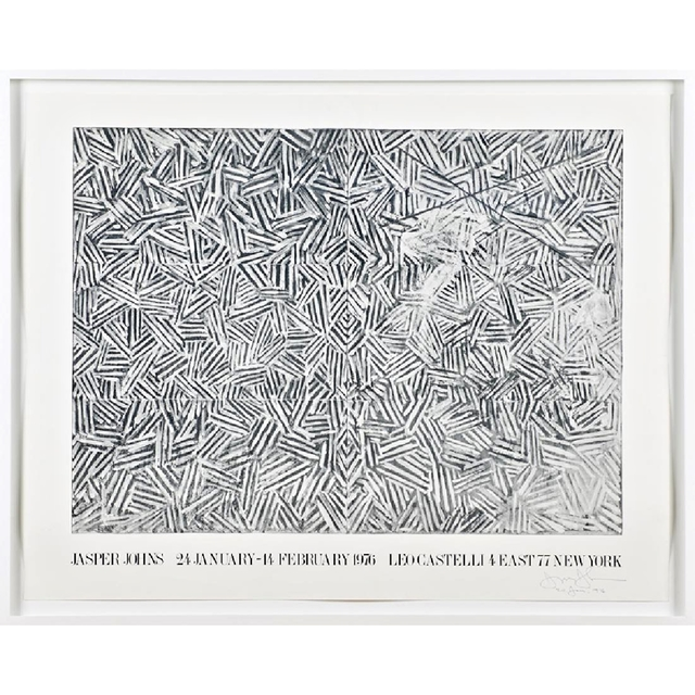 , 'Jasper Johns at Leo Castelli (Hand signed and dated at the opening) ,' 1976, Alpha 137 Gallery