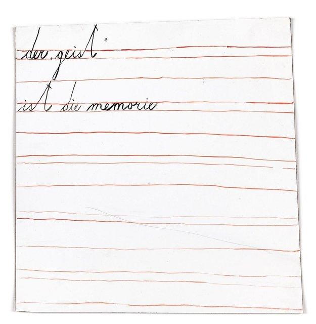 """, 'Der """"Geist"""" ist die Memorie, m. 8,' 1971-1977, Galerie Martin Janda"""