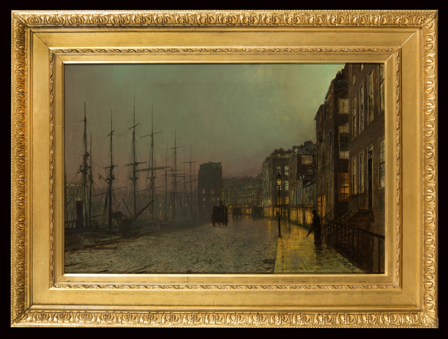 , 'Wet Moonlit Night (Clyde Shipping),' 1883, Trinity House Paintings