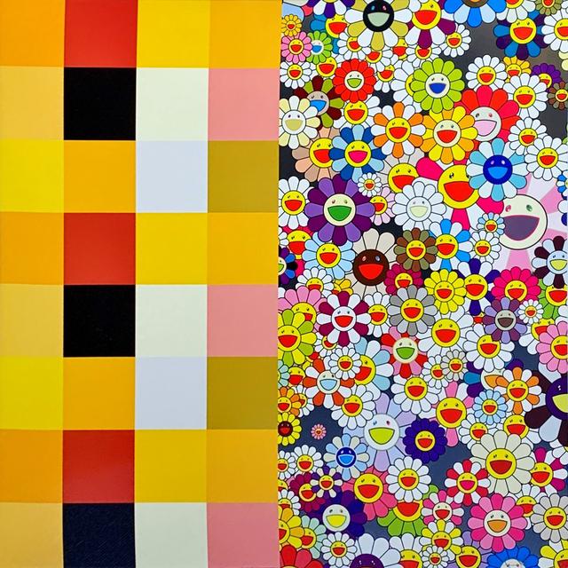 Takashi Murakami, 'akipankuchir・flowers(checkers)', 2011, Print, Lithograph, Shukado Gallery