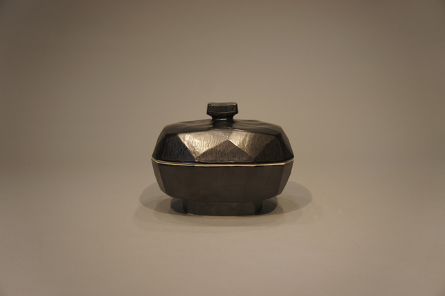, 'Rectangular lidded form with knob medium black,' 2016, Christine Park Gallery