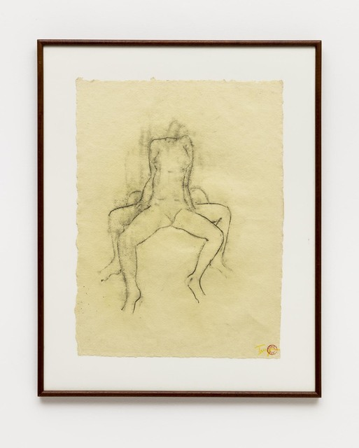 Tunga, 'Untitled', 1995, Drawing, Collage or other Work on Paper, Charcoal on paper, Bergamin & Gomide