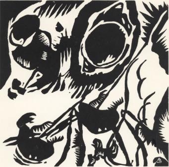 Wassily Kandinsky, ''Motif aus Improvisation 25: The Garden of Love'', 1911 / 1938, Stubbs Fine Art