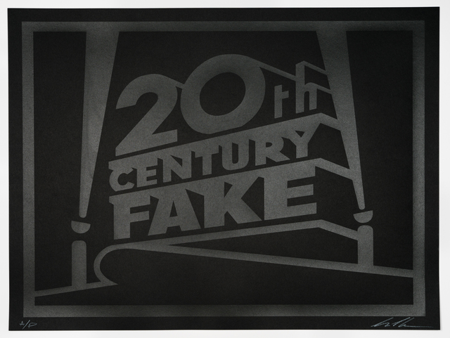 , 'Twentieth Century Fake, Artist Proof Black on Black,' 2018, Vintage Deluxe