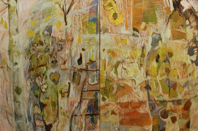 , 'Forest Graffiti Diptych,' 2020, The Front Gallery