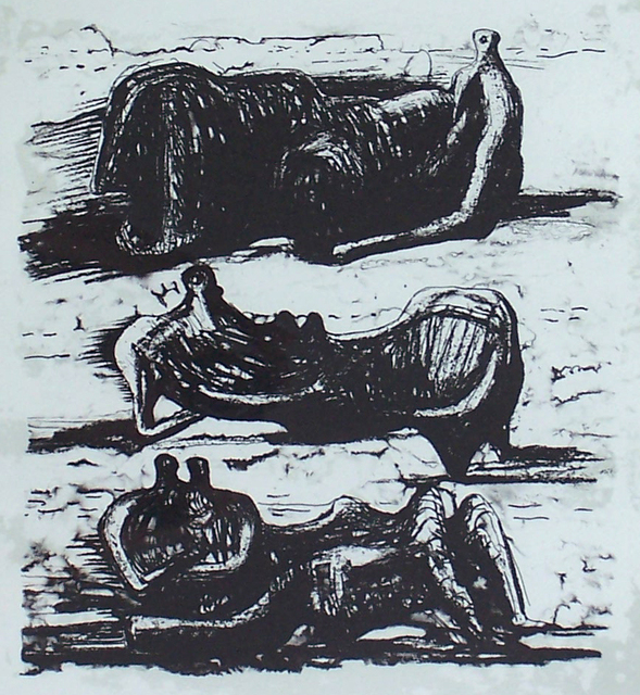 , 'Three Reclining Figures, from: La Poesie,' 1973, Gilden's Art Gallery