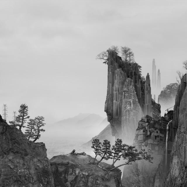 , '太古蜃市 - 悬崖 Time Immemorial - The Cliff,' 2016, Matthew Liu Fine Arts