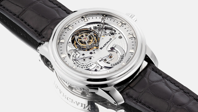 Blancpain, 'A very fine and rare platinum semi-skeletonized wristwatch with tourbillon regulator, power reserve, date, certificate and box, numbered 68 of a limited edition of 288 pieces', Circa 2009, Phillips