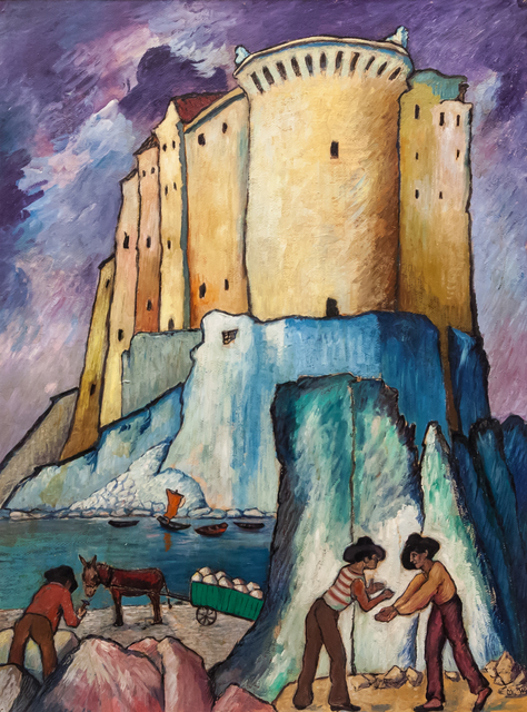 , 'Castello sul Mediterraneo in Italia,' 1925.1932 BCE, Artrust