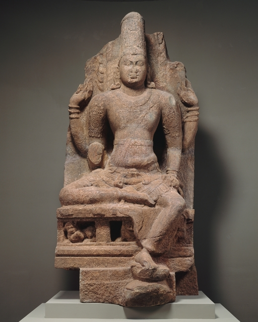 Unknown Indian, 'Enthroned Vishnu', second half of the 8th–early 9th century, The Metropolitan Museum of Art