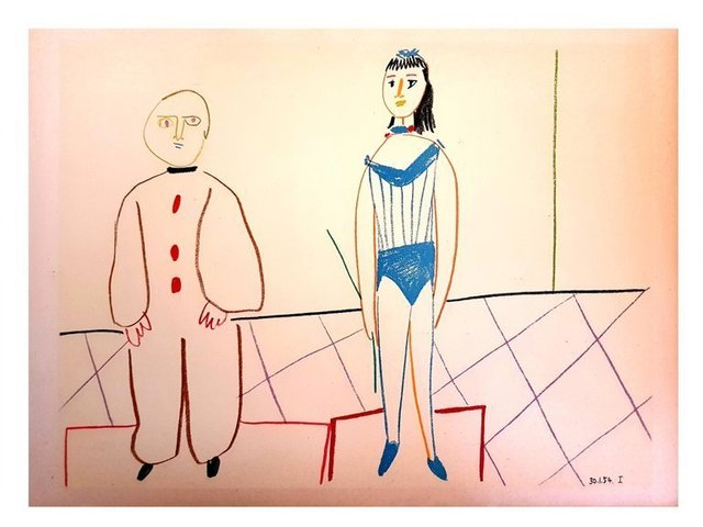 """Pablo Picasso, 'Lithograph """"Human Comedy X"""" after Pablo Picasso', 1954, Galerie Philia"""