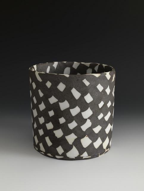 Lorraine Shemesh, 'Medium Black & White Woven Neriage Cylinder', 2017, Gerald Peters Gallery
