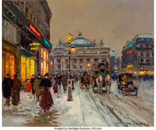 Avenue de l'Opéra, Snow