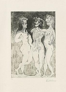 Pablo Picasso, 'Trois femmes (Les trois grâces couronnées de fleurs)', 1961, Galerie Boisseree