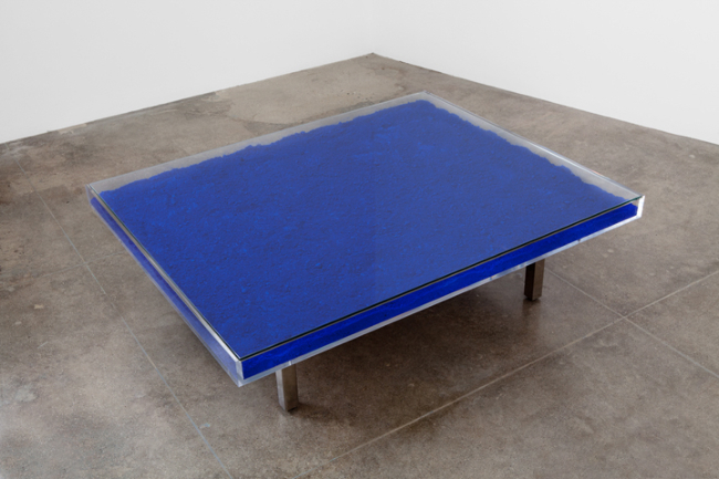 Yves klein table bleue 1961 available for sale artsy for Table yves klein