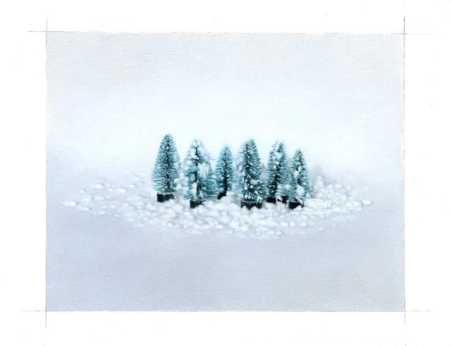 , 'Trees and Snow,' 2018, Purdy Hicks Gallery
