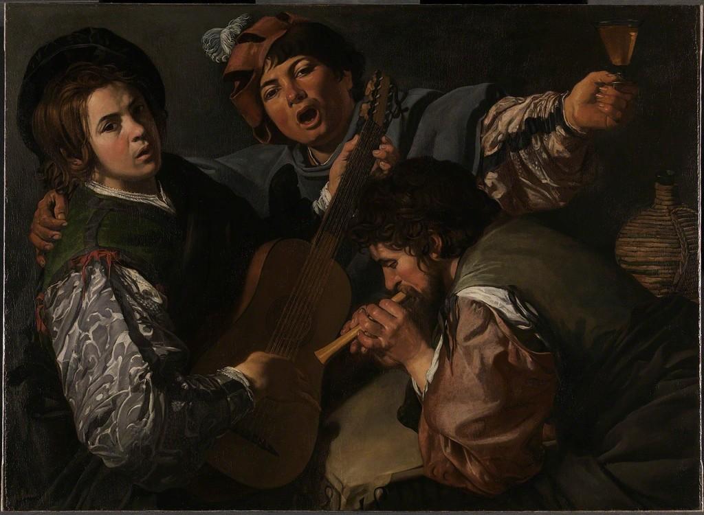 Valentin De Boulogne, U0027A Concert With Three Figuresu0027, 1615 1616,