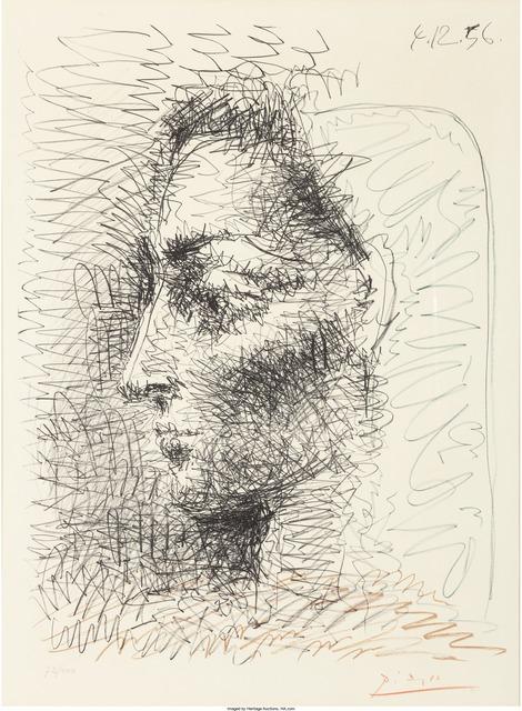 Pablo Picasso, 'Portrait de Jacqueline', 1956, Print, Offset lithograph in colors on Arches paper, Heritage Auctions
