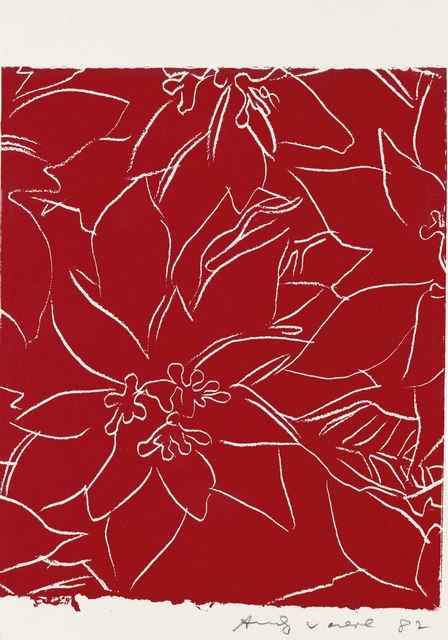 Andy Warhol, 'Poinsettias', 1983, Print, Screenprint in red, on Saunders Waterford paper, Christie's