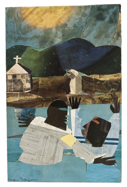Romare Bearden, 'Baptism', 1964, Drawing, Collage or other Work on Paper, Collage of various papers on paperboard, Michael Rosenfeld Gallery