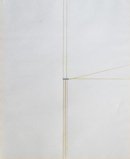 , 'La extensión de las palabras (The extension of words) Hombre (Man),' 2017, Lisa Sette Gallery