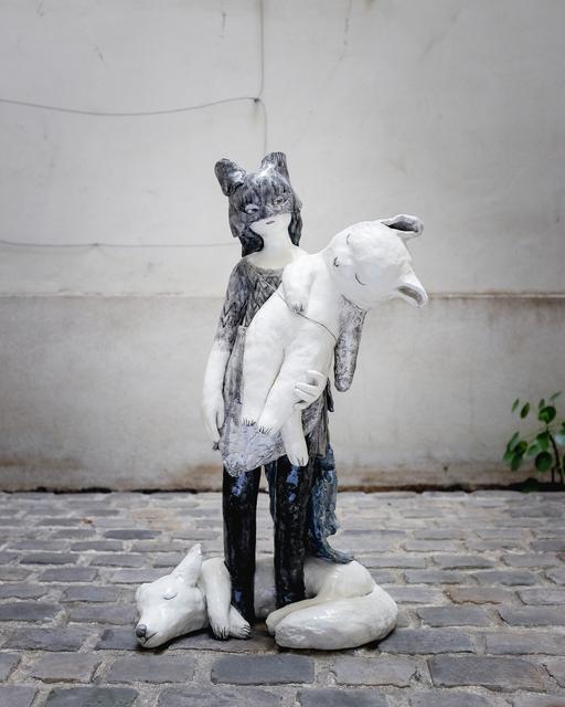 , 'Young girl with a mask,' 2018, Antonine Catzéflis