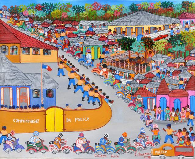 , 'Course de moto,' , Le Centre d'Art d'Haïti
