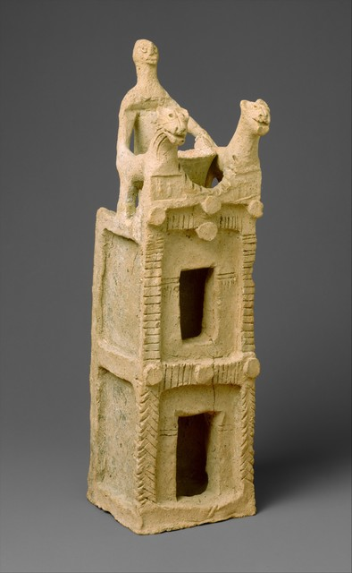 Unknown Designer, 'Cult vessel in the form of a tower with cylinder seal impressions near the top', ca. 19th century B.C., The Metropolitan Museum of Art