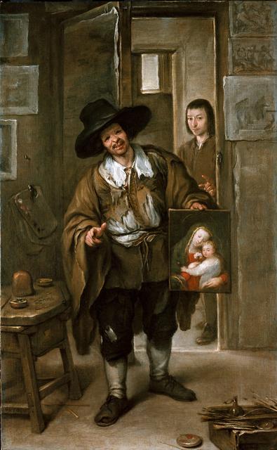 , 'Atelierszene (Der Bildhändler),' ca. 1670, Gemäldegalerie Alte Meister