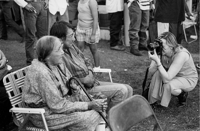 , 'Indian Photographing Tourist Photographing Indians, Crow Fair, Montana,' 1991, Portland Art Museum