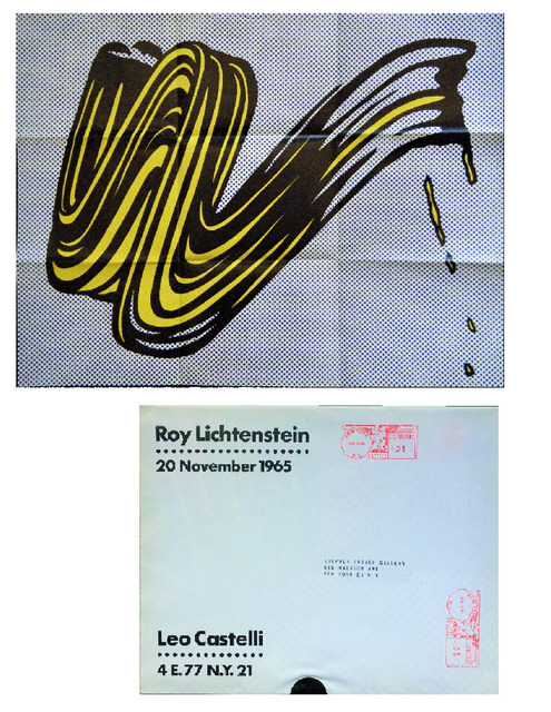 "Roy Lichtenstein, '""Brush Stroke"", 1965, Invitation/ Mailer/Poster, Leo Castelli Gallery NYC', 1965, Ephemera or Merchandise, Lithograph on paper, VINCE fine arts/ephemera"