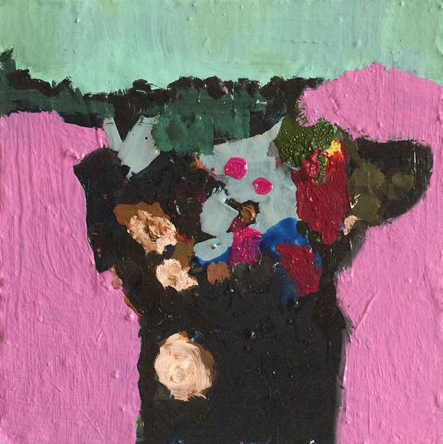 , 'Semple's Pink with Black Vase,' 2017, Galerie de Bellefeuille