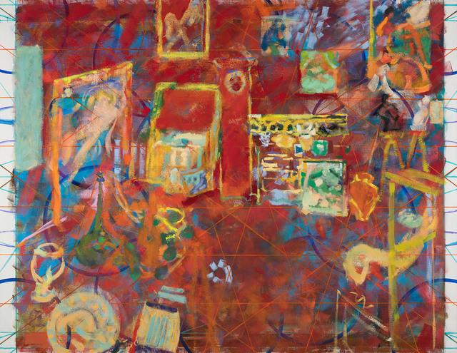 Jochen Plogsties, '33_18 (L'atelier rouge)', 2018, G2 Kunsthalle